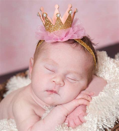 Bando Pink Tiara By Sashashop baby flower princess crown headband elastics