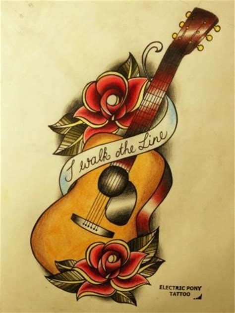 old school electric tattoo 25 best ideas about guitar on acoustic
