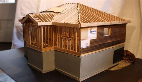 wood frame house model