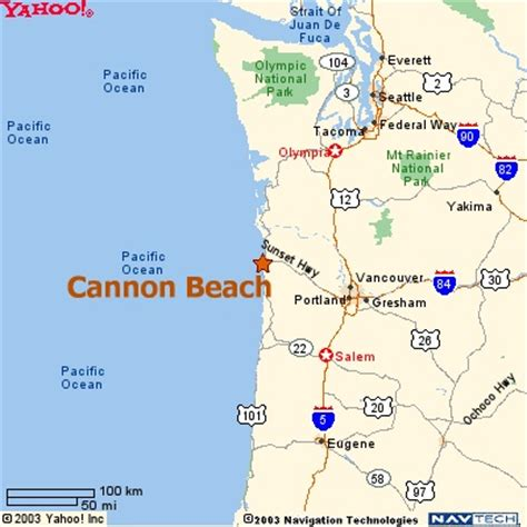 map of oregon pacific coast map of cannon oregon for road trip pacific