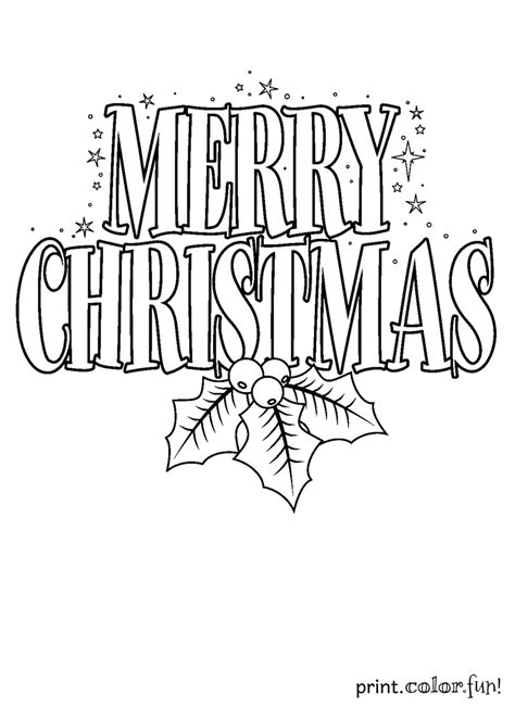 Merry Christmas Sign Coloring Page Print Color Fun Free Printable Merry Coloring Pages