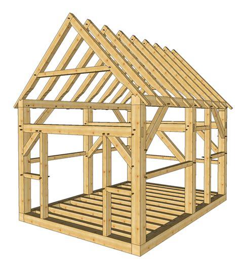 timber frame shed plans