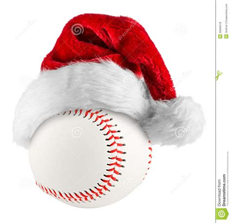 baseball santa hat stock photo image of object team