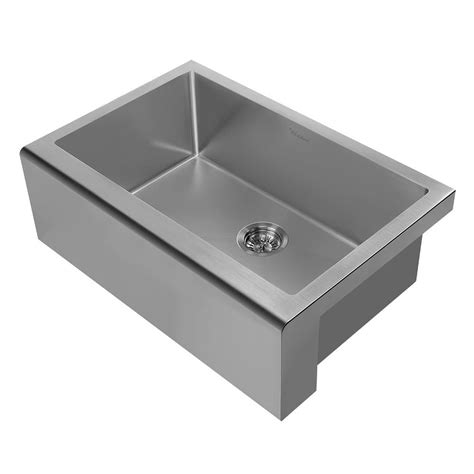 Whitehaus Kitchen Sink Whitehaus Collection Noah Plus All In One Apron Front Stainless Steel 30 In Single Bowl Kitchen