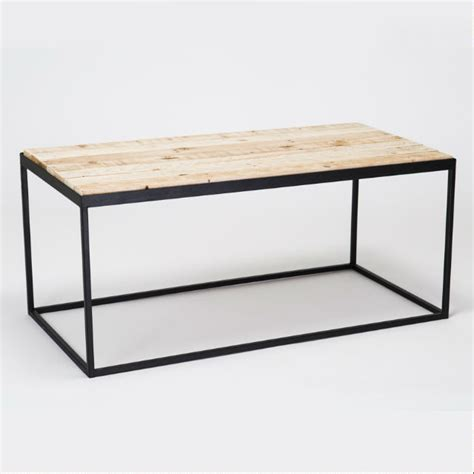 steel timber coffee table