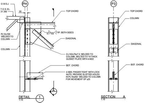 truss section 16 best images about structure details on pinterest