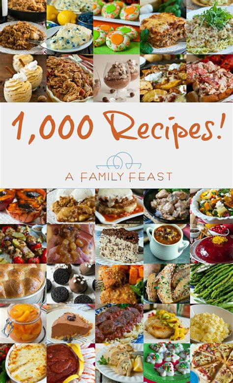 1000 images about recipes to 1 000 recipes a family feast