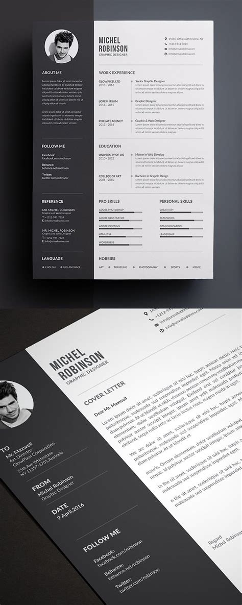 Resume Template 50 by 50 Best Resume Templates For 2018 Design Graphic