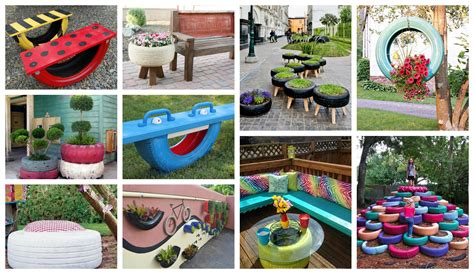 how to beautify your backyard how to decorate your yard with tires in a fantastic way