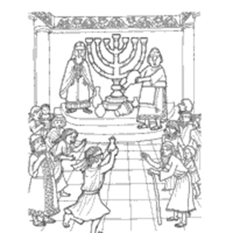 Chanukah Story Coloring Pages