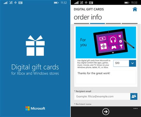 Game Apps To Win Gift Cards - microsoft add digital gift cards app to windows phone