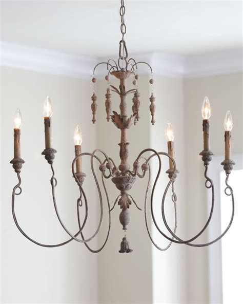 Salento Six Light Chandelier With Wood Country Home Country Wooden Chandeliers