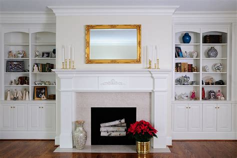 fireplace with bookshelves bookcases skills custom cabinetry by ken leech