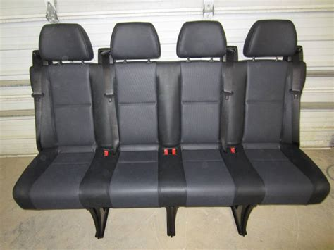 sprinter bench seat 14 16 mercedes benz sprinter van 4 passenger black leather