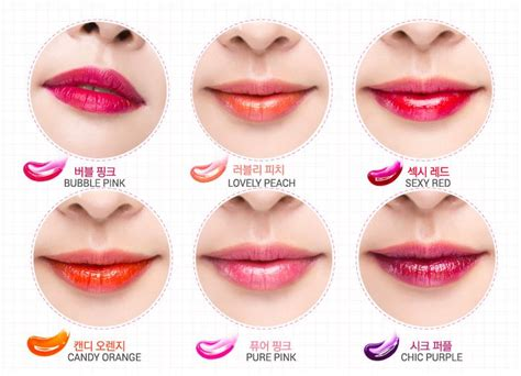 Lipgloss Monomola 6 colors magic color peel mask tint