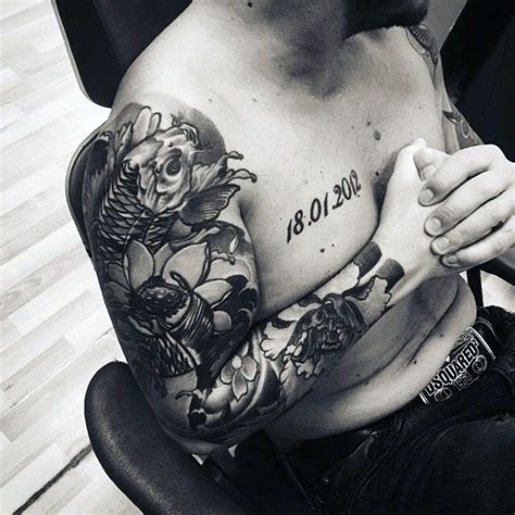 black and white sleeve tattoos for men top 100 best sleeve tattoos for cool designs and ideas