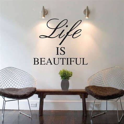 Large Animal Wall Stickers life is beautiful wall quote trendywalldesigns com