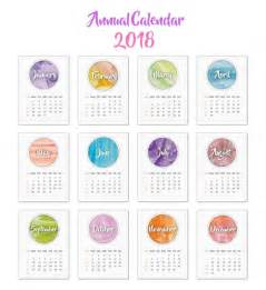 Calendar 2018 Design Psd Calendar 2018 Watercolor Design Vector Free