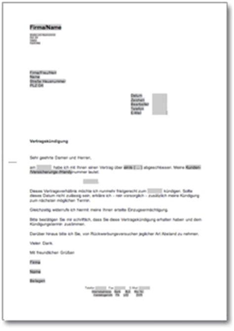 Musterbrief Vorlage Schadensmeldung K 252 Ndigung Vertrag Fristlos De Musterbrief