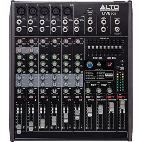 Mixer Alto Live 802 sound reinforcement mixers alto user manual pdf manuals