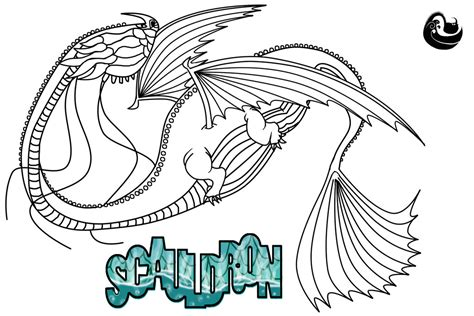 scauldron dragon coloring page scauldron line art and character template by scalebound on