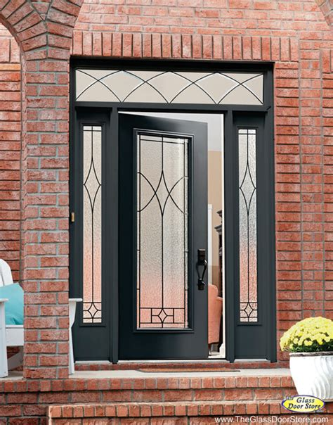 Glass Door For Front Door Wrought Iron Glass Front Entry Doors Mediterranean