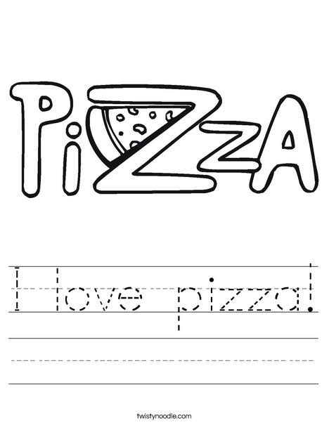 coloring book how great i pizza worksheet twisty noodle