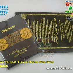 Dompet Murah Pita Renda tempat tissue songket pita gold souvenir pernikahan