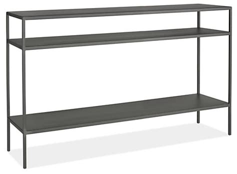 room and board slim console table slim modern console tables in steel modern