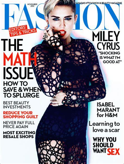 Wardrobe Miley Cyrus by Fashion Magazine November 2013 Cover Miley Cyrus