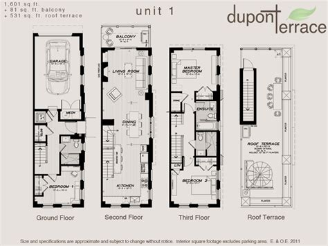 townhouse designs and floor plans toronto dupont terrace floor plan plans
