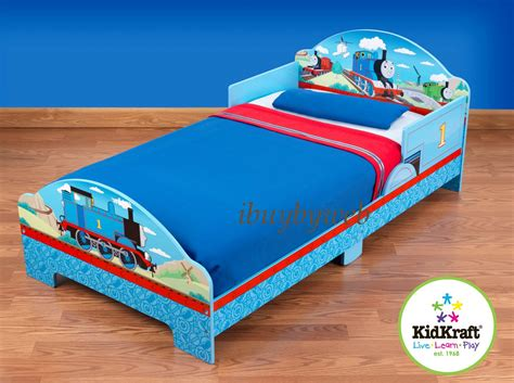 thomas toddler bed kidkraft 20702 thomas the tank friends kids toddler cot train bed blue new ebay