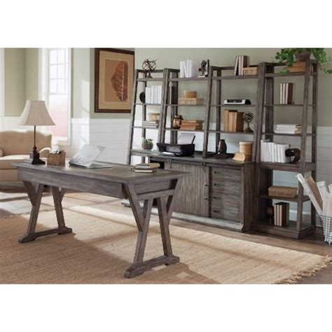 Liberty Help Desk by Liberty Furniture Brook 5 Desk With Distressed