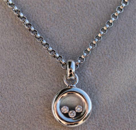 chopard happy emotions happy pendant and necklace