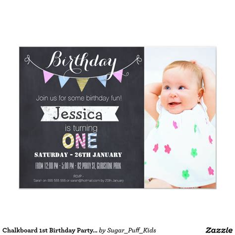 1st Birthday Card Invitation Template by Birthday Invites Birthday Invitations