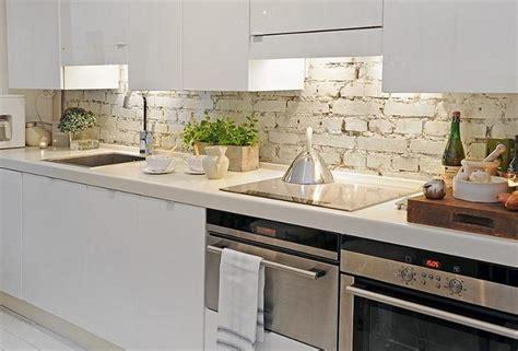 kitchen design faux brick tile kitchen splashback ideas metal paredes interiores con ladrillo a la vista decoradoras