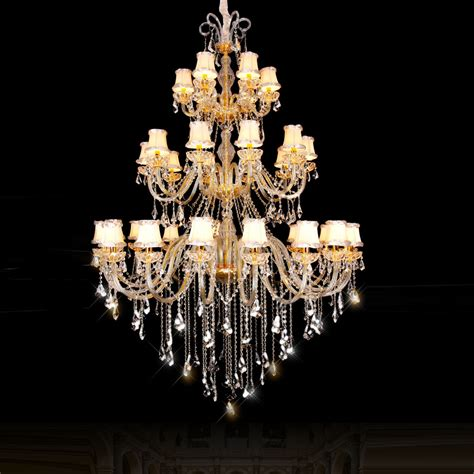 room chandelier aliexpress buy three layer large chandelier lighting for hotel k9 chandeliers