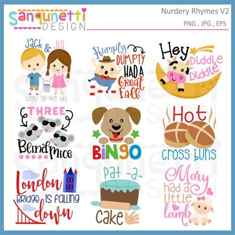 nursery rhyme clip sanqunetti design nursery rhyme letteirng clipart