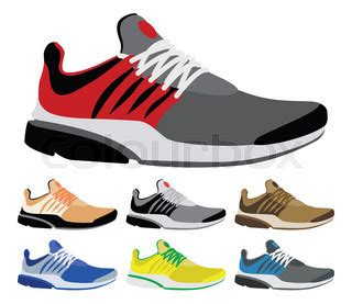 sport shoes vector sport shoes vector and illustration vector colourbox