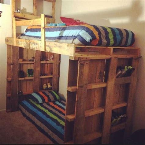 kids pallet bed astonishing ideas for pallet loft bunk beds palletable