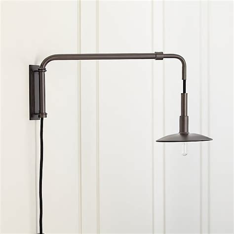 swing arm sconce swing arm bronze sconce crate and barrel