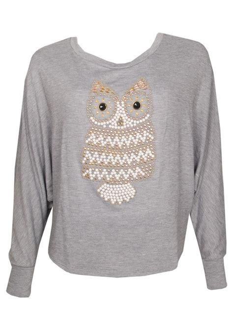 Misa Top Grey Mo misa los angeles sleeved owl top grey