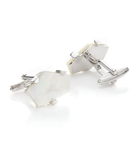 Lanvin Silver by Lanvin Of Pearl Cufflinks In Silver For Pearl