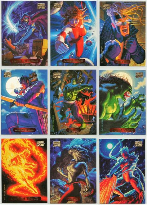 Kartu Marvel Masterpieces 94 Card muddy colors 1994 marvel masterpieces
