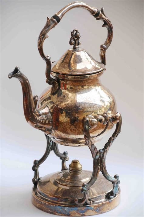vintage teapots with stand vintage silver on copper