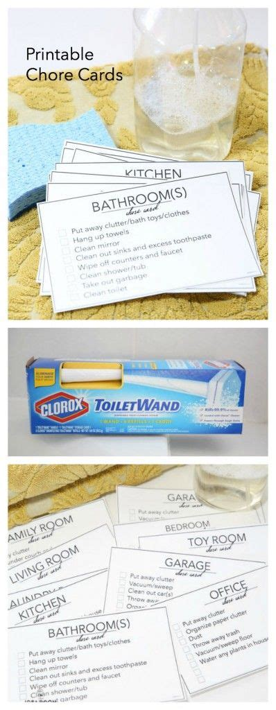 How To Print Walmart Gift Card - printable chore cards chore cards and get the job on pinterest