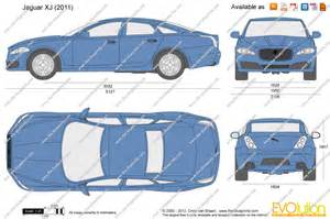 Jaguar Dimensions The Blueprints Vector Drawing Jaguar Xj