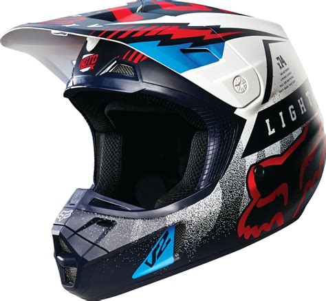 motocross gear for 179 08 fox racing v2 vicious dot helmet 234777