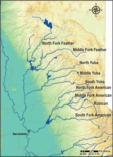 california map of rivers frogs breed insights on river management