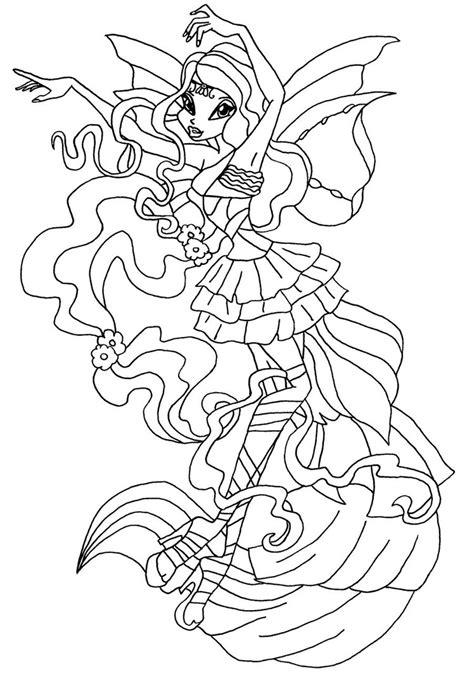 winx club stella harmonix coloring pages